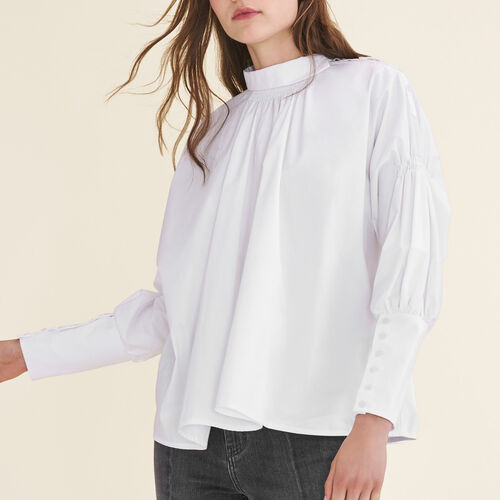 Top in popeline di cotone - Tops - MAJE