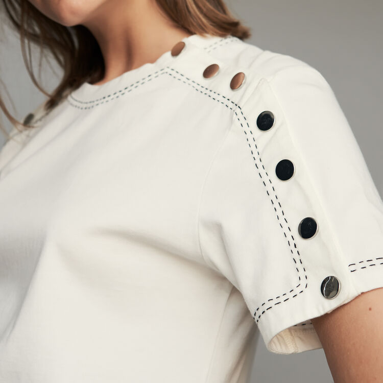 Tee-shirt in cotone : T-Shirts colore Bianco