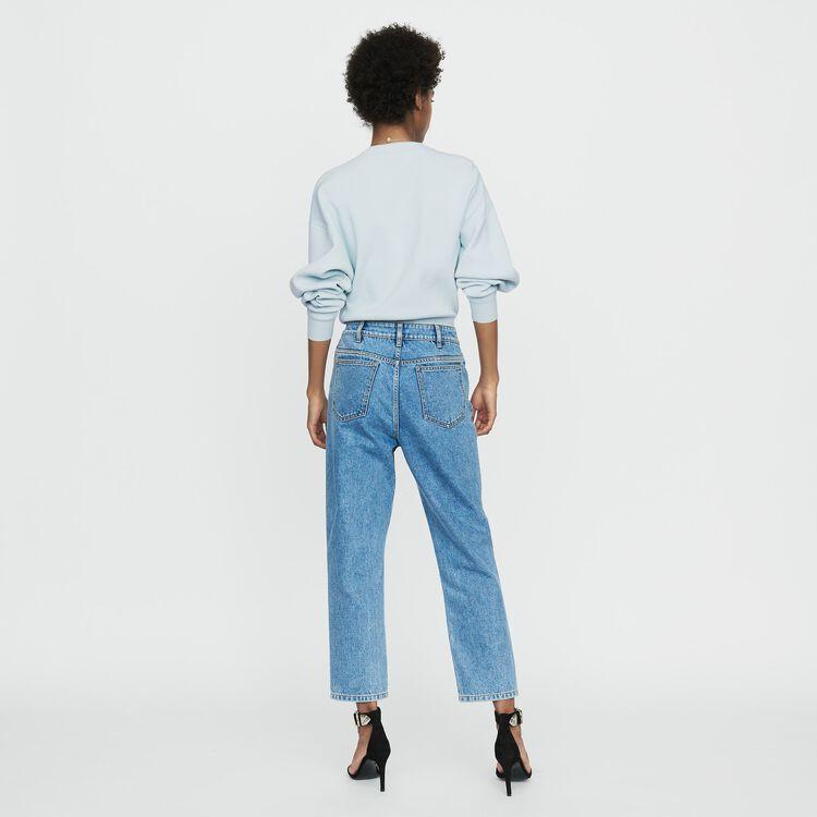 Jeans larghi in denim delavè : Nuova Collezione colore Denim