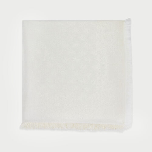 Scialle con motivi  M in lurex : New in : Collezione Estate colore Bianco Sporco
