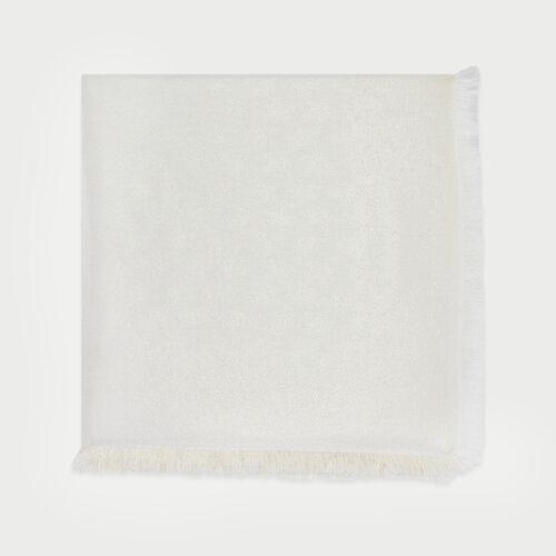 Scialle con motivi  M in lurex : Scialli & Poncho colore Bianco Sporco