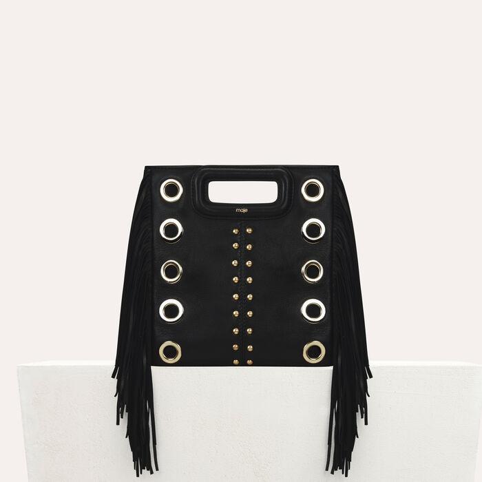 Borsa M in pelle con borchie : Nuova collezione colore Nero