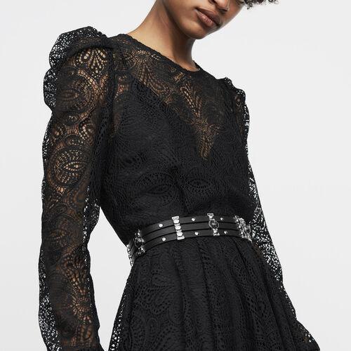 Vestito pattinatrice in pizzo : Vestiti colore Nero