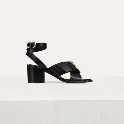 Sandal with buckle : Scarpe colore Nero