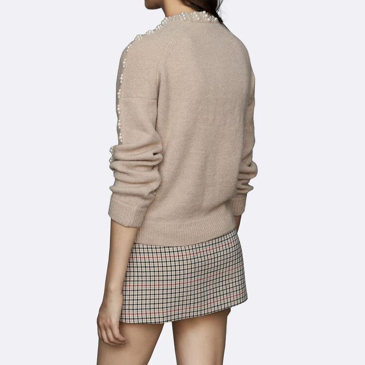 Pull oversize in misto lana : Maglieria colore Beige