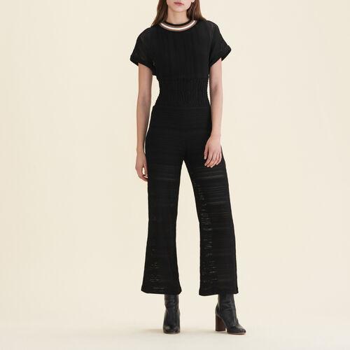 Tuta pantalone in maglia - Pantaloni - MAJE