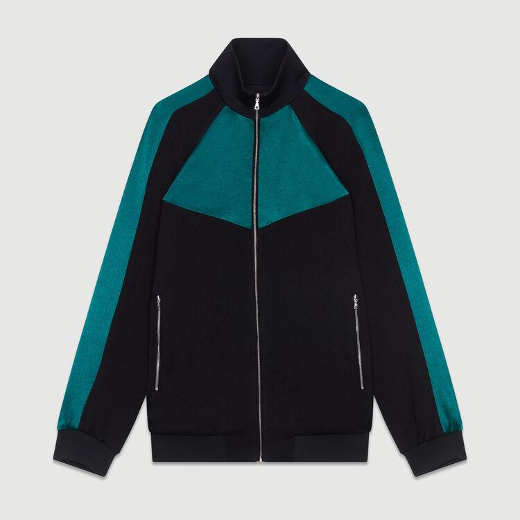 Giacca bicolore stile sportivo : Vedi tutto colore Nero