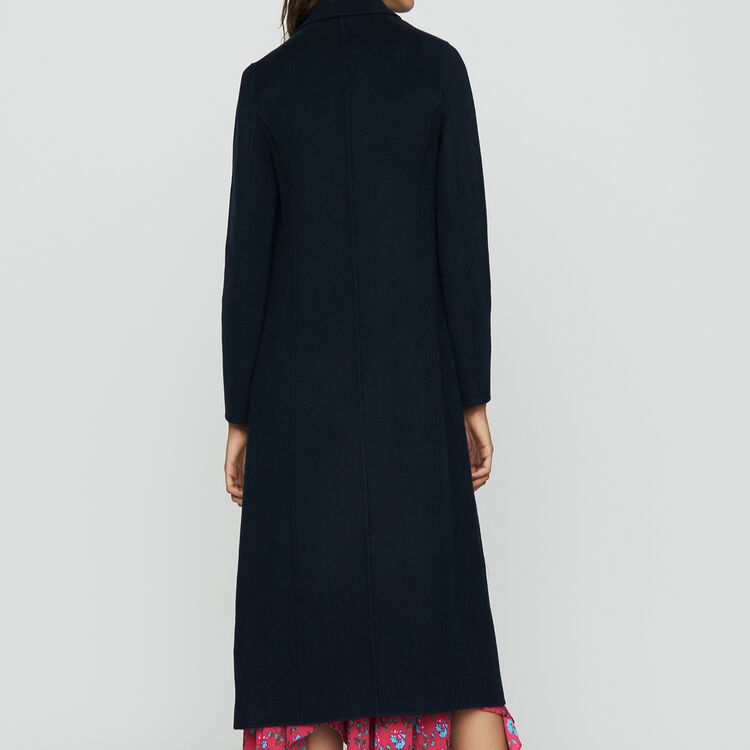 Cappotto lungo in lana double face : Cappotti colore VERT