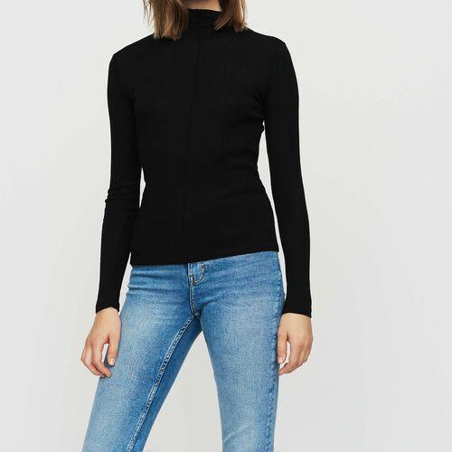 T-shirt in maglia di lana : Nuova Collezione colore NERO