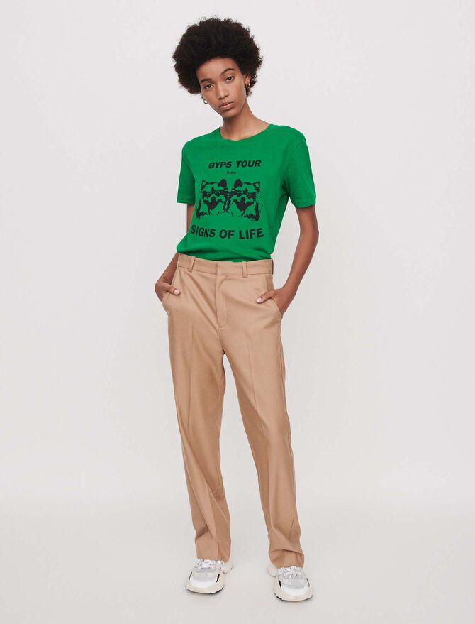 Wide straight-leg pants - Soldes-RE-50 - MAJE