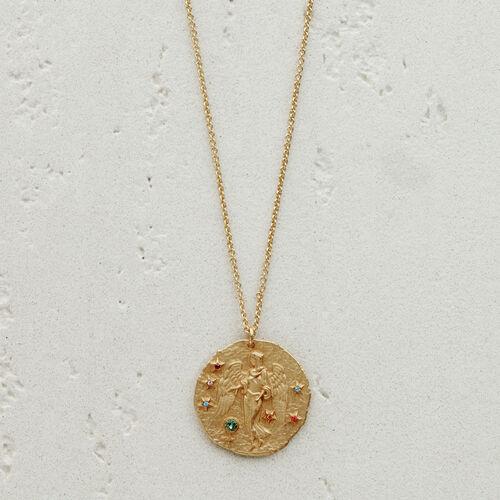 Collana segno zodiacale Vergine : Vedi tutto colore OR