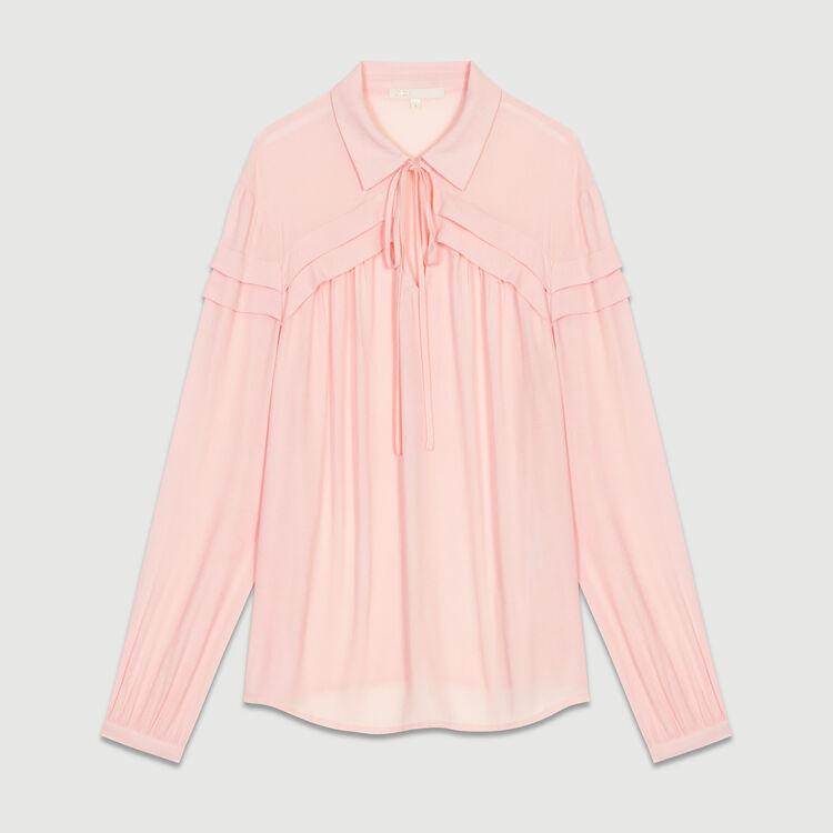 Shirt collar blouse : Tops colore LILA