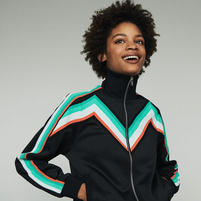 Giacca sportiva con zip : Giacche colore Nero