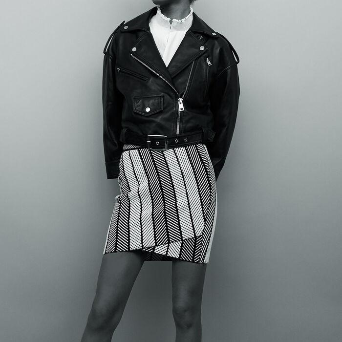 Mini leather jacket : Giubbotti colore Nero