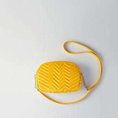 Quilted velvet shoulder bag : Sami bag colore ROUGE