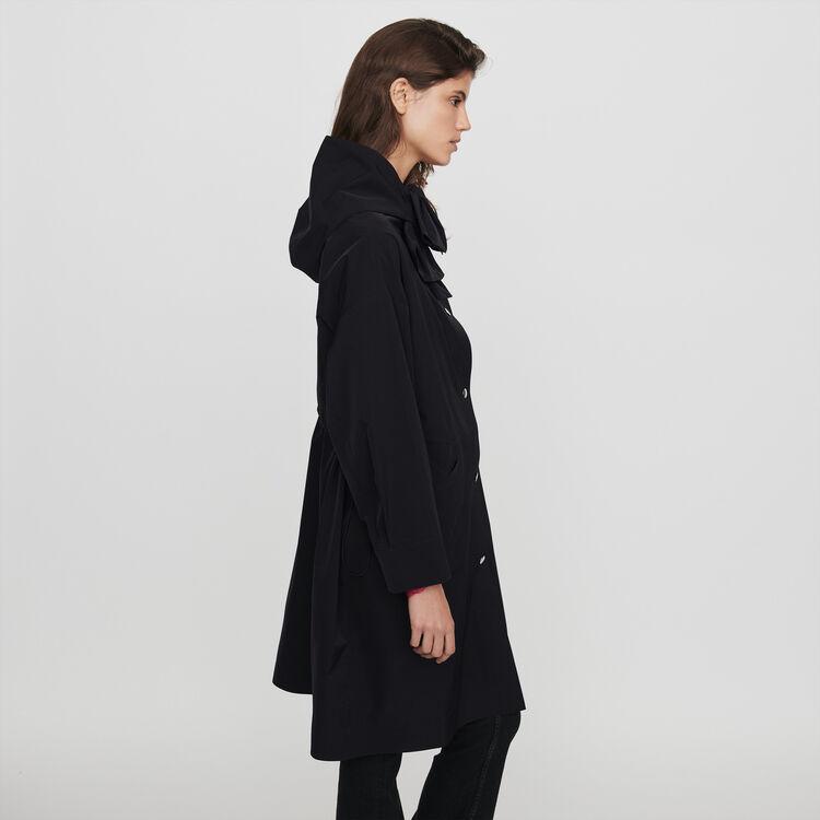 Parka stile giacca a vento con cappuccio : Cappotti e Giubbotti colore Nero