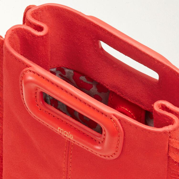 Mini borsa M con frange in pelle : M Mini colore Rosso