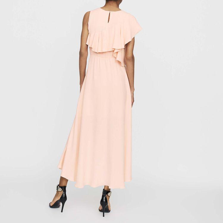 Vestito lungo asimmetrico : Vestiti colore PECHE