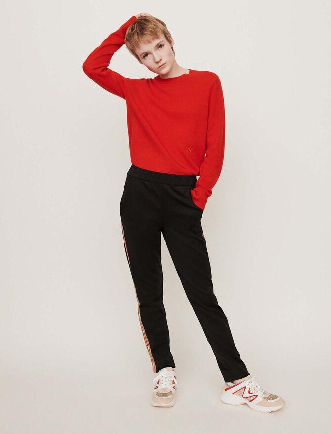 Neoprene jogging-style pants - Pantaloni e Jeans - MAJE