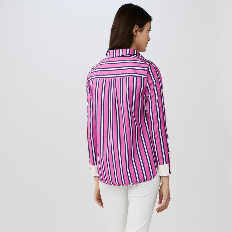 Camicia in cotone : Camicie colore A Righe