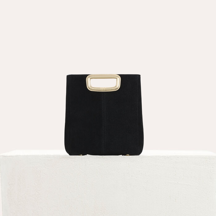 Clutch MDuo Skin in suede : M Mini colore Nero