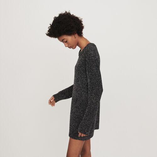 Vestito in maglia Lurex : Vestiti colore Argento