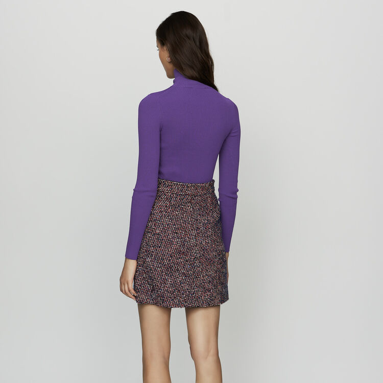 Gonna corta in tweed : Gonne e shorts colore Jacquard