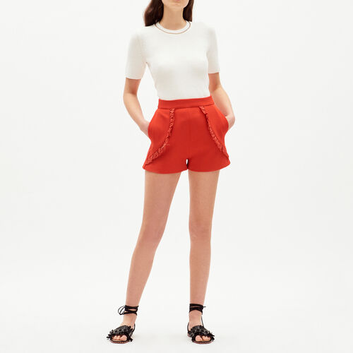 Short with details : Gonne e shorts colore Rosso