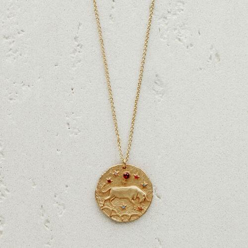 Collana segno zodiacale Toro : Gioelli colore OR