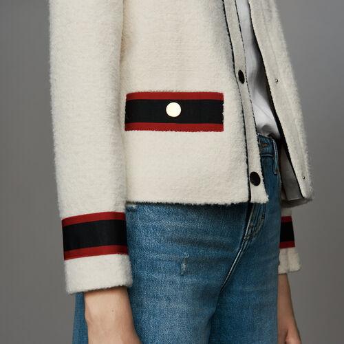 Giacca corta in tweed : Giacche colore Ecru