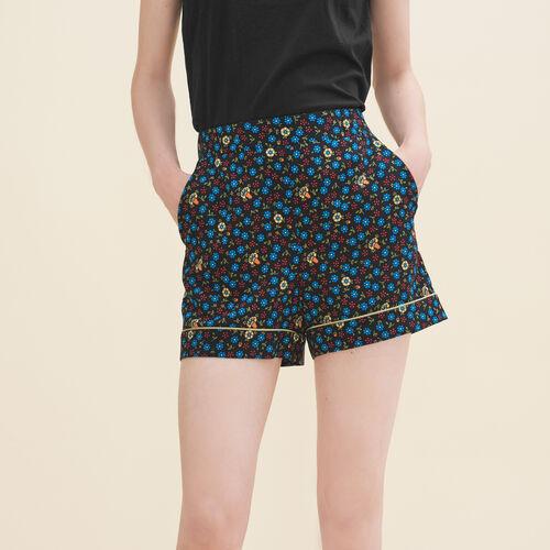 Short con stampa floreale : Gonne e shorts colore IMPRIME