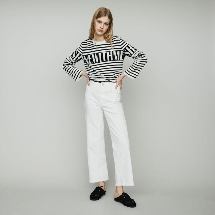 Jeans larghi a vita alta : Pantaloni e Jeans colore Bianco
