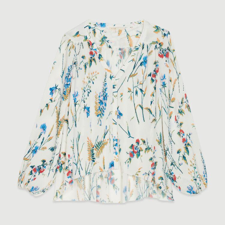 Top plissettato gioiello con stampa : Tops colore IMPRIME