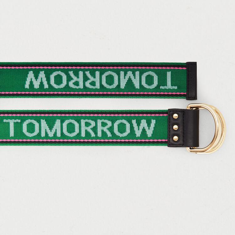 "Cintura cinghia ""Dream Tomorrow"" : Cinture colore Verde"