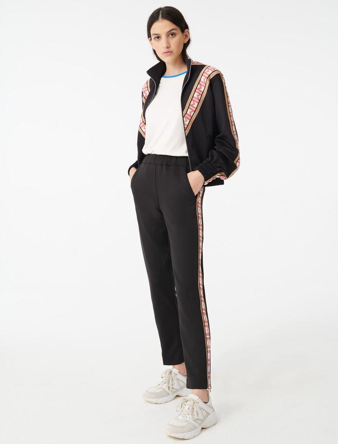 Pantaloni stile tuta con strisce - Pantaloni e Jeans - MAJE