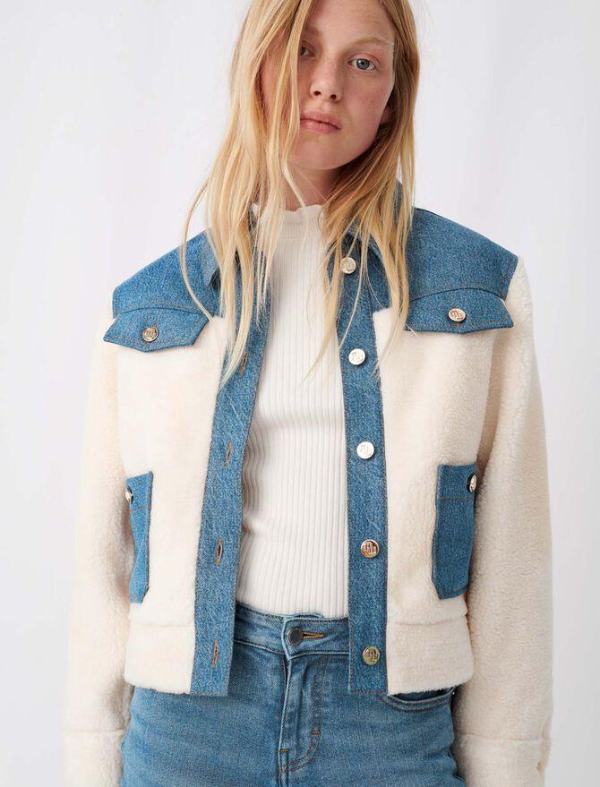 Giubbotto di jeans e finta pelliccia - Nuova collezione - MAJE