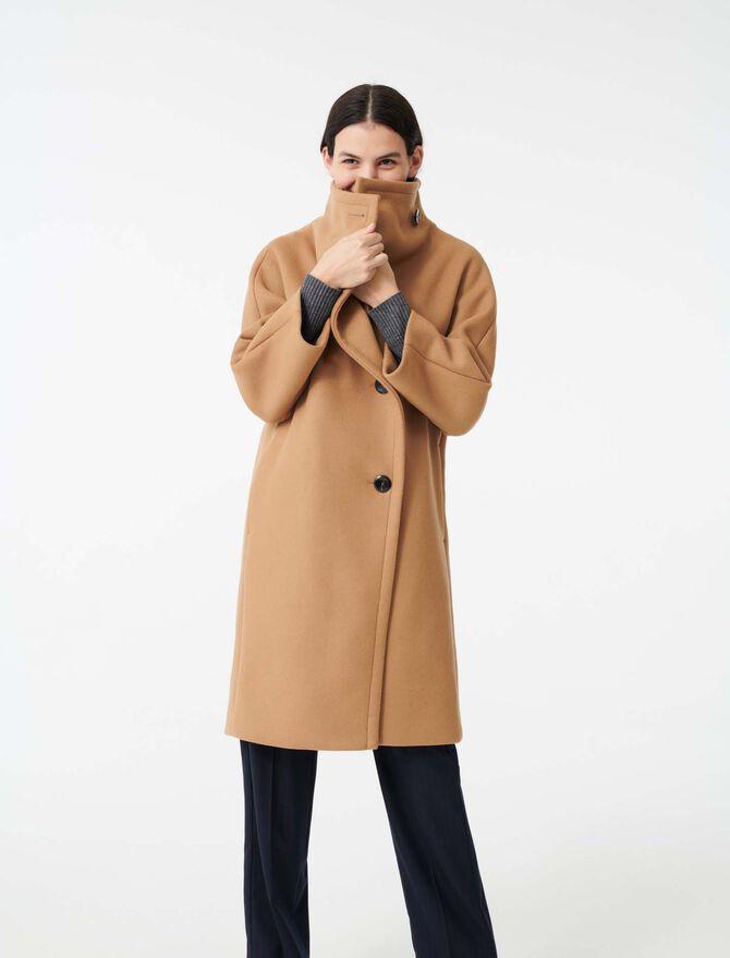 Long coat with wide woolen collar - Giacche e Giubbotti - MAJE