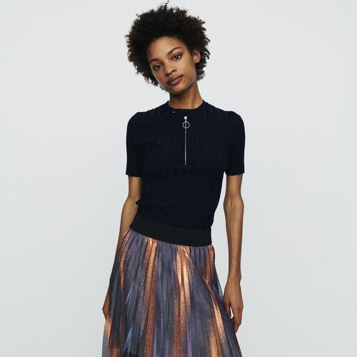 Pull in maglia con maniche corte : Pullover e cardigan colore Blu Marino
