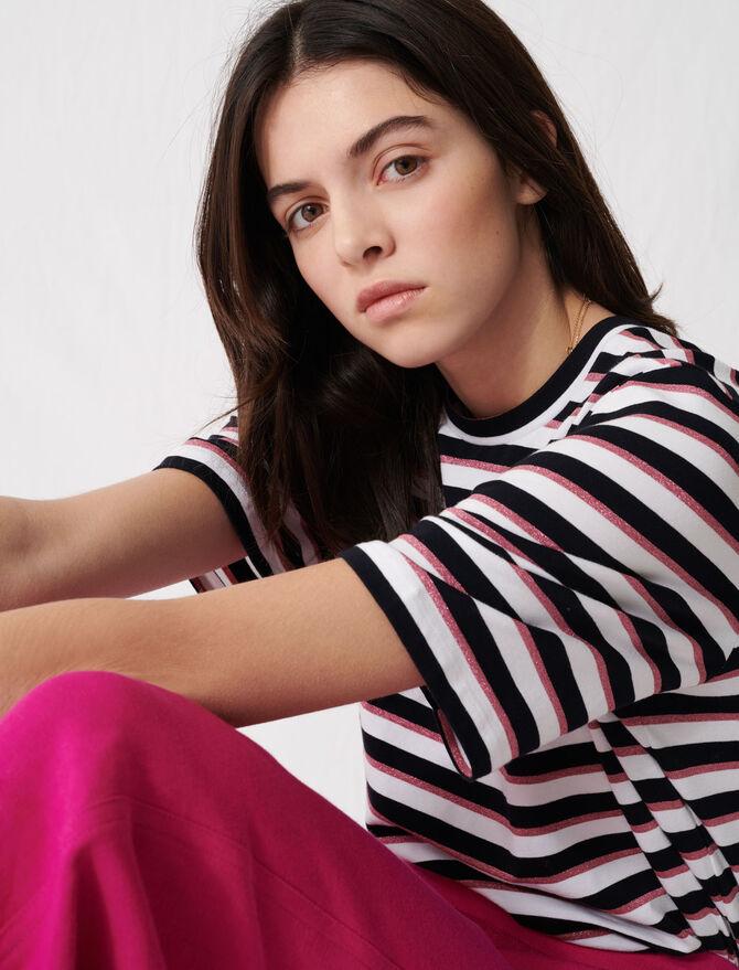 T-shirt a righe tricolori -  - MAJE