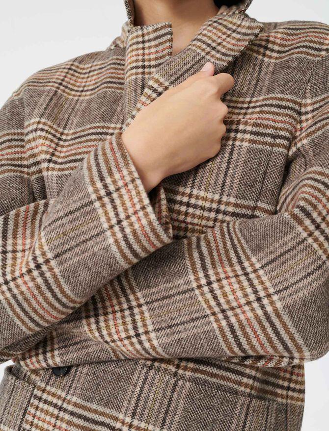 Cappotto stile giacca a quadri - Giacche - MAJE