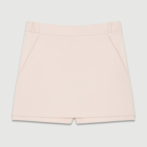 Panta-gonna in crepe : Gonne e shorts colore Rosa