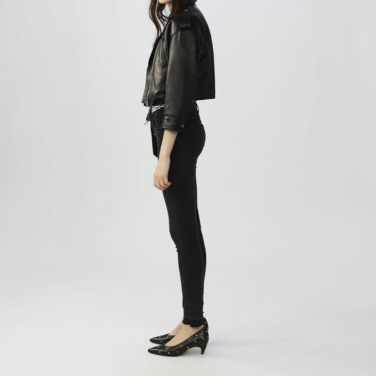 Felpa felpata stampa : Jeans colore Antracite