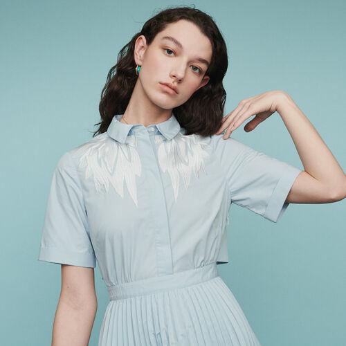 Scamiciato plissettato : Vestiti colore Blu