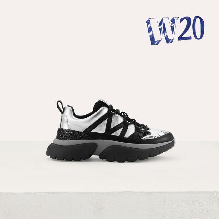 Sneakers di cita W20 di pelle : Sneakers colore Argento