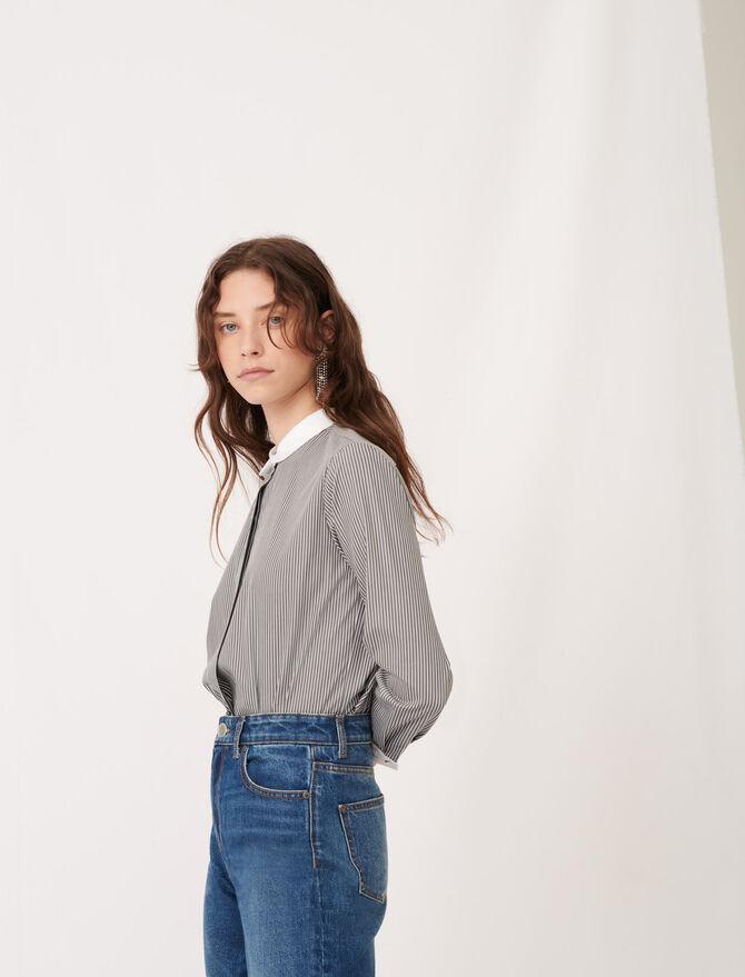 Camicia in popeline a righe - null - MAJE