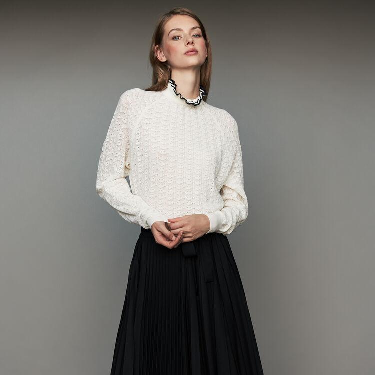Pull in maglia chevron : Maglieria colore ECRU