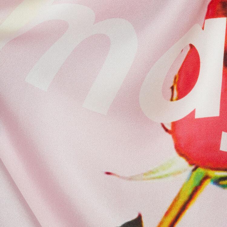 Foulard quadrato in seta : Scialli & Poncho colore Rosa