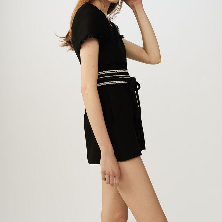 Tuta corta in jersey : Gonne e shorts colore Nero