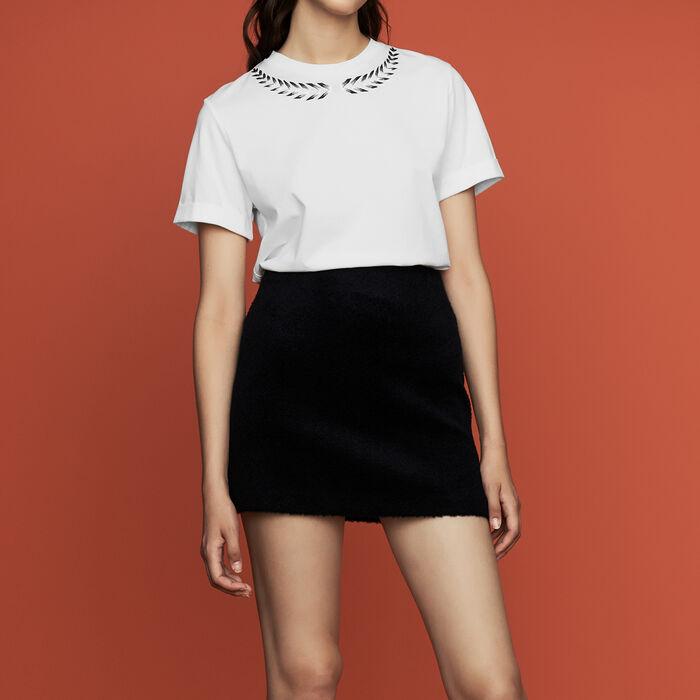 Tee-shirt con ricamo : Nuova Collezione colore ECRU