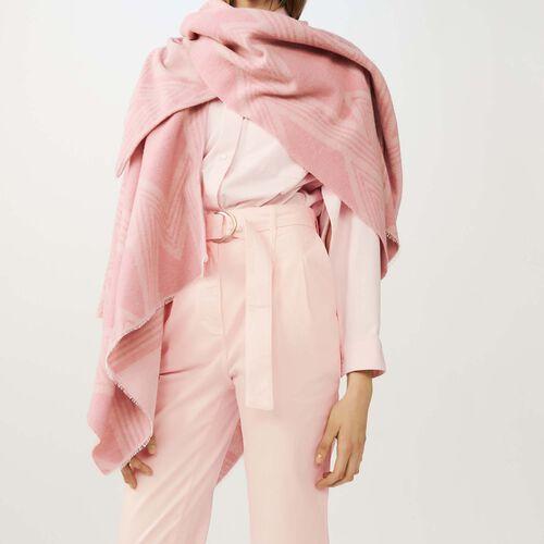 Poncho stampato a M : Scialli & Poncho colore Rosa